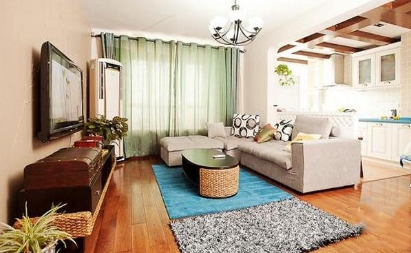 温馨舒适三室两厅设计_装修效果图-x团装修网