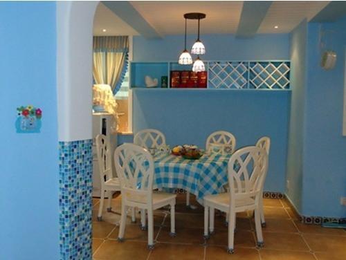 蓝色的海洋_餐厅装修设计_装修效果图-x团装修网