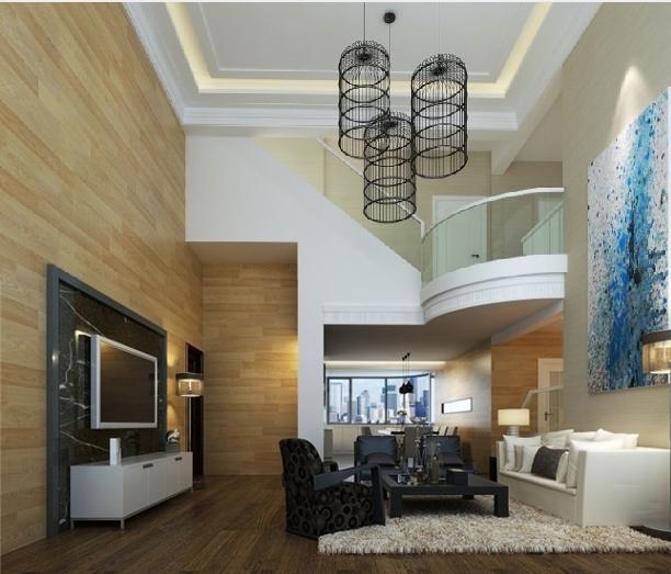 中式别墅客厅装修效果图 客厅装修效果图  设计理念: 户型:跃层 房间