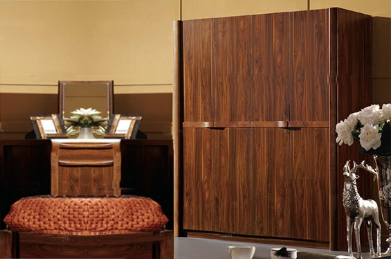 中式风格红木家具衣柜设计装修效果图