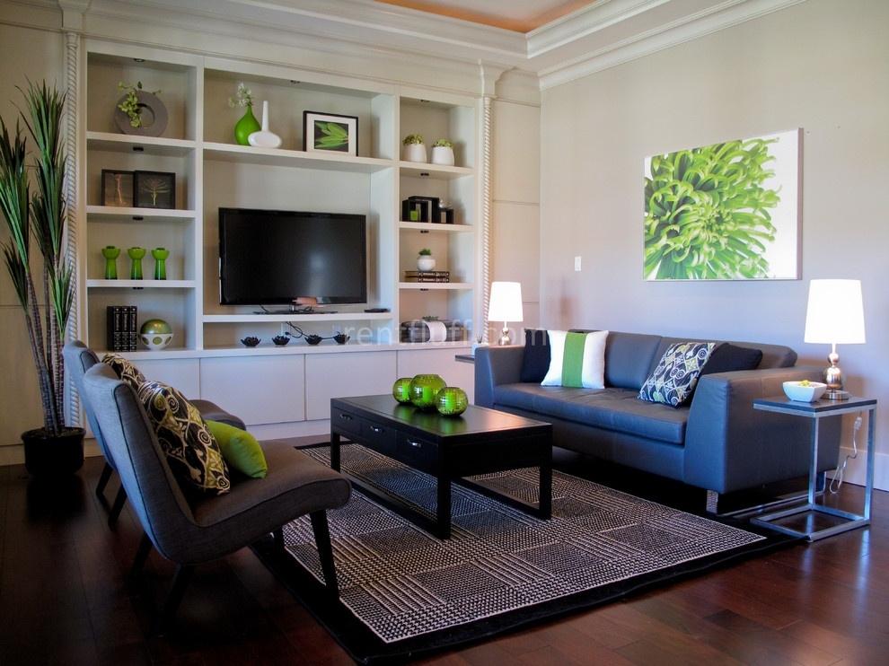 打造时尚温馨隔墙柜装修效果图 北欧风格隔墙柜装修效果图 现代一居室图片