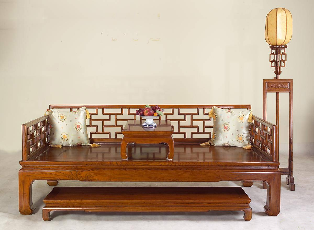 红木家具中式风格罗汉床设计