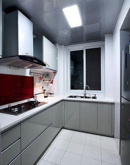 现代风格小户型厨房设计_装修效果图-x团装修网
