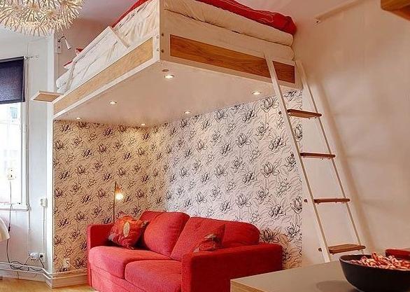 现代简约风格单身公寓的卧室设计_装修效果图-x团装修
