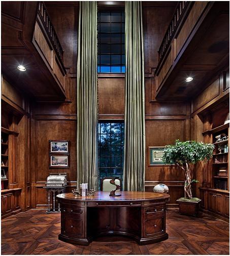 奢华大气的美式书房