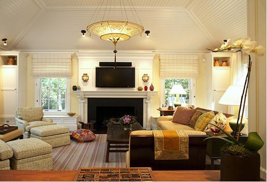 四居室混搭风格客厅电视背景墙