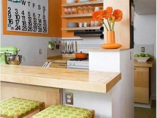 时尚创意的餐厅吧台