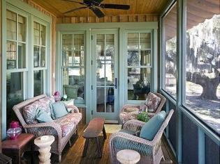 乡村风格的阳台设计