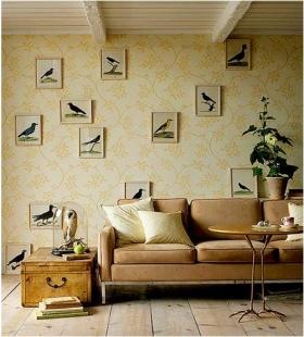 欧式风格沙发背景墙效果图