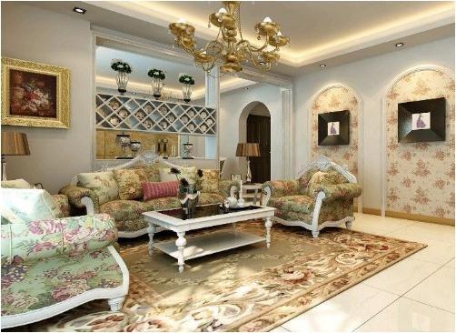 客厅的时尚清新氛围