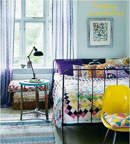 浪漫风情的地中海小卧室