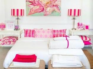 桃红色的卧室装修设计