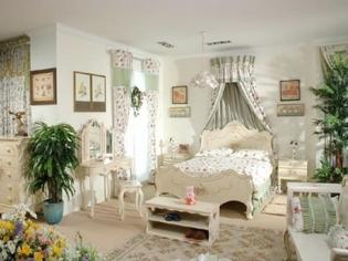 浪漫韩式田园卧室装修案例