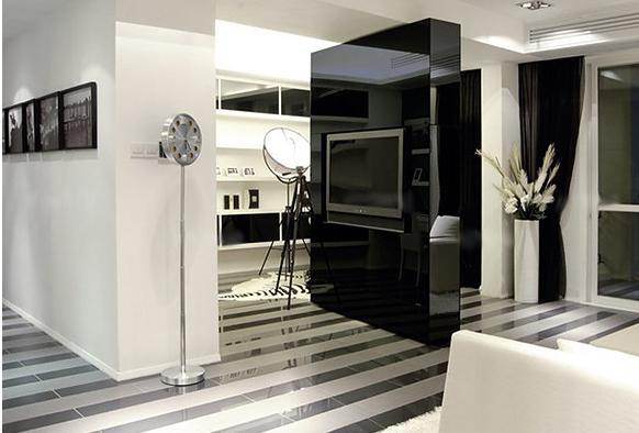 现代风格电视墙隔断装修效果图高清图片