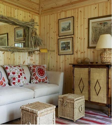 全实木的客厅装修效果图