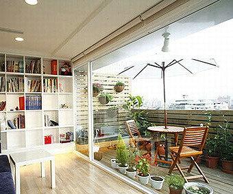 书房阳台装修效果图