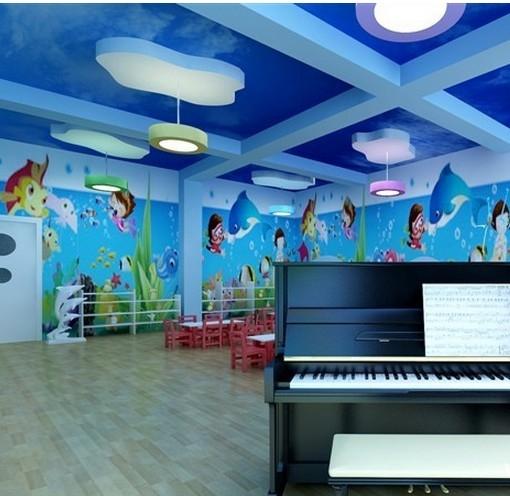 现代简约_海洋世界 幼儿园环境布置