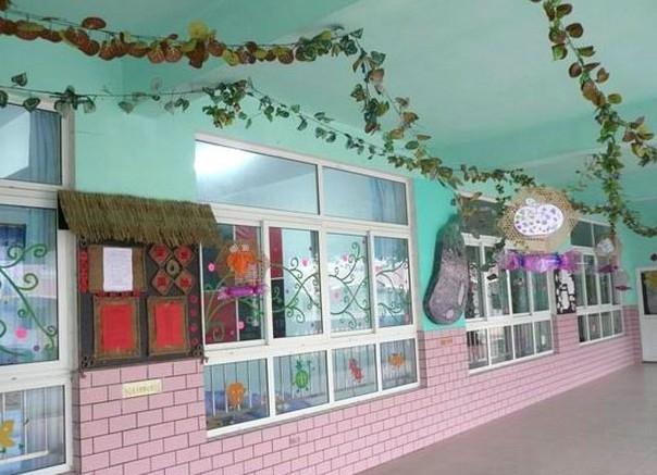 春天气息的幼儿园墙面布置装修效果图
