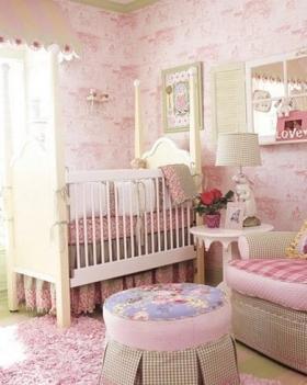 韩式风格婴儿房_粉色的婴儿房颜色