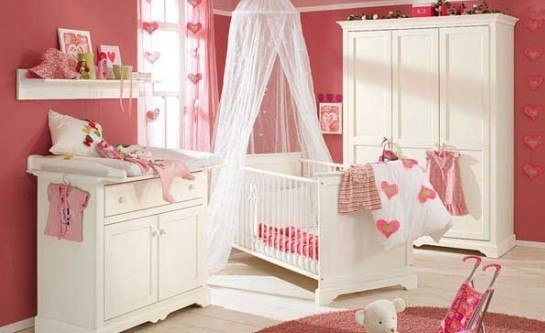 甜蜜公主的婴儿房颜色