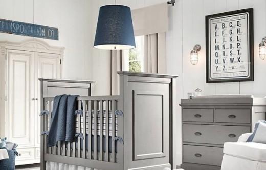 北欧风格的婴儿房布置