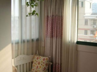 薄纱窗帘效果图