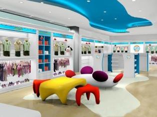 外贸童装店装修效果图