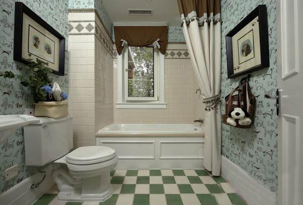 淡绿色厕所效果图