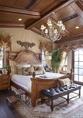 卧室大全2013美式风格别墅装修效果图