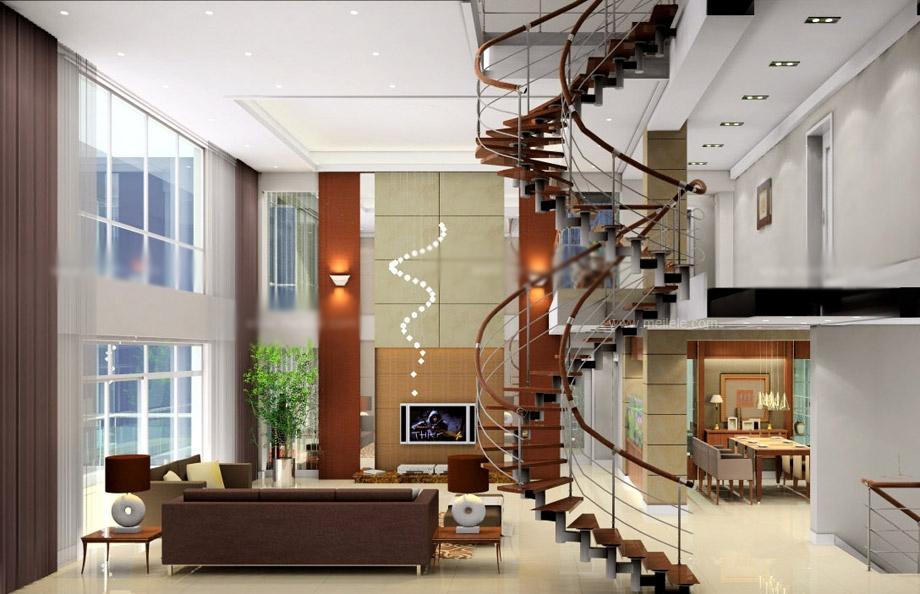 小复式楼楼梯装修效果图图片
