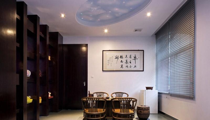 中式办公室室内设计装修效果图