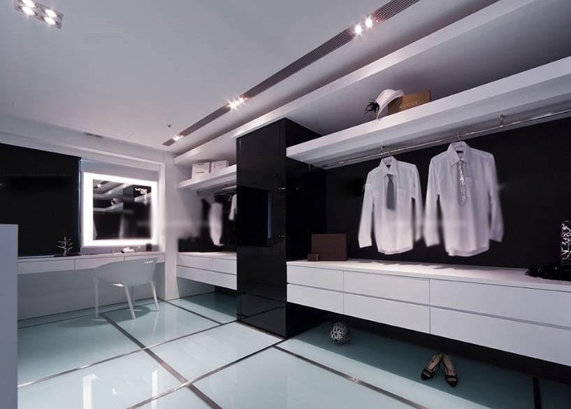 衣帽间衣柜设计效果图