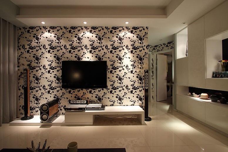 一室一厅欧式风格客厅电视背景墙_客厅电视墙