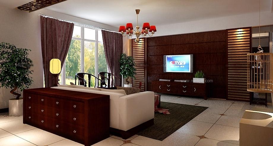 设计理念:沙发后面朱红色的储物柜,不仅装饰了整个客厅空间,而具它的储物功能也得到了很好的实用。 隐藏更多