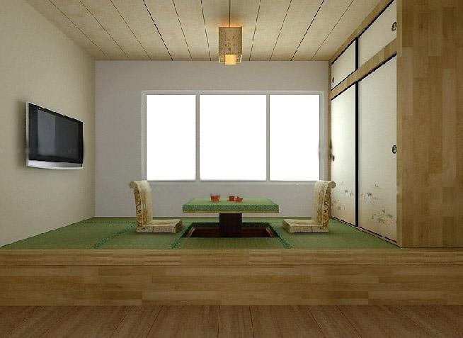 客厅榻榻米床效果图