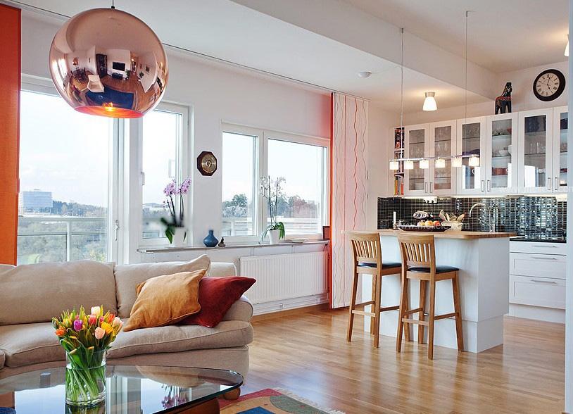 小户型北欧风格厨房_家装厨房小吧台