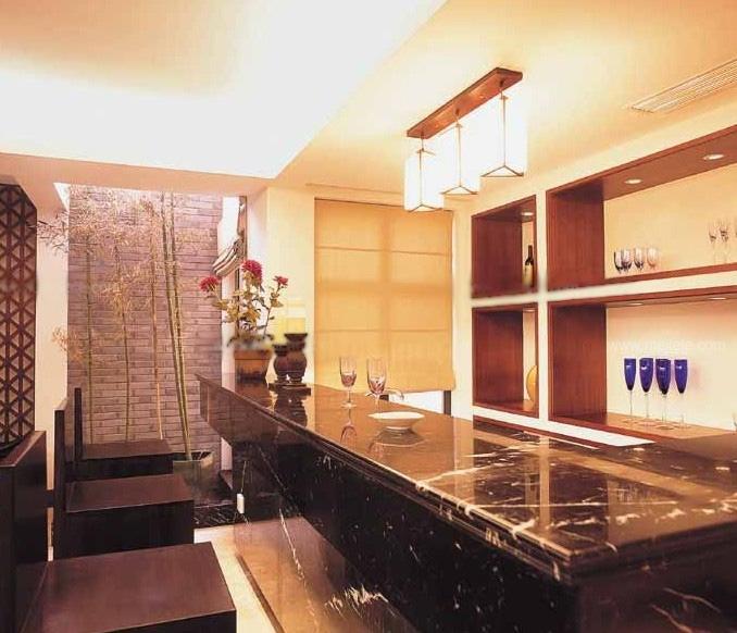 标签:厨房三室一厅中式风格吧台 设计理念:中式风格也有新改变,吧台图片