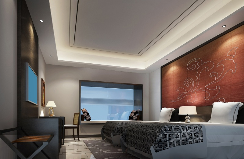 宾馆客房装修效果图