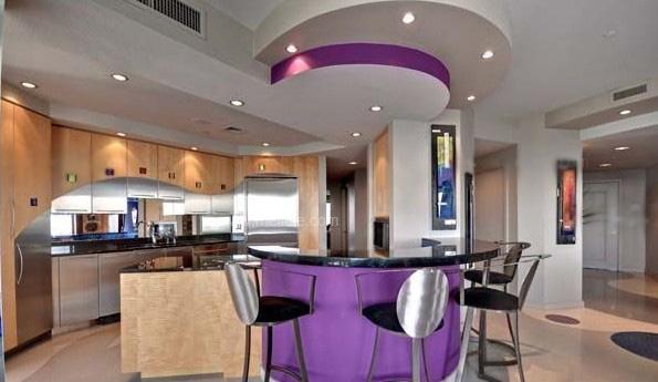 家装厨房小吧台效果图