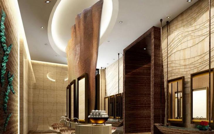 设计理念:酒店客房的色彩设计要符合客人的视觉需求:人们对某些色彩的感觉存在着共性,在色彩的使用中,酒店的客房软装设计要注意到对于入住的人来说是个暂时的私人空间,而对于酒店的经营性质来说,它又是个公共空间,因此,选择色彩,尤其是选择基调色彩,就要去寻找有共性的色彩组合,这样才能满足不同旅客的视觉需求。