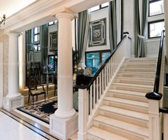 大户型现代风格客厅_室内楼梯