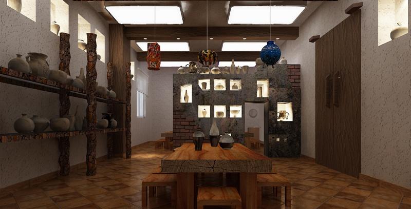 陶器展览装修效果图