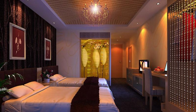 现代酒店客房装修效果图