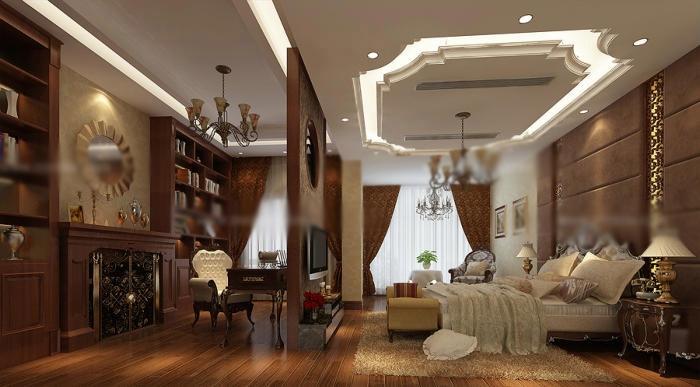 家装卧室设计效果图_装修效果图-x团装修网