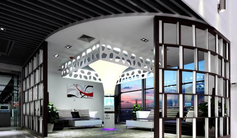 盛基颐家装饰材料展厅装修效果图 水晶展厅装修效果图 红酒展厅装修