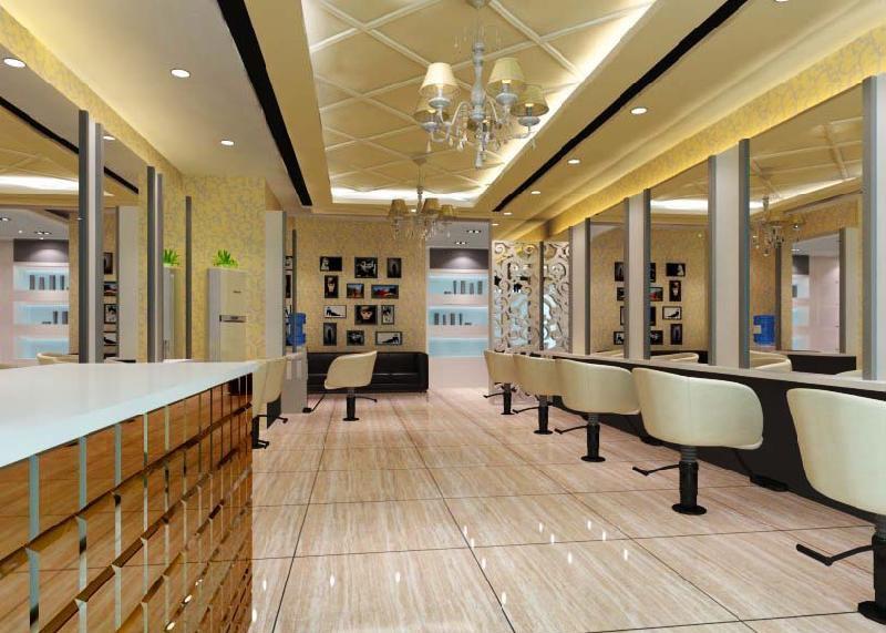 理发店装饰装修设计可不是手 成都欧式风格理发店装修现代-店面装