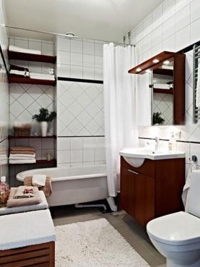 卫生间欣赏北欧风格装修效果图-北欧风格图片 北欧风格装修效果图 第图片