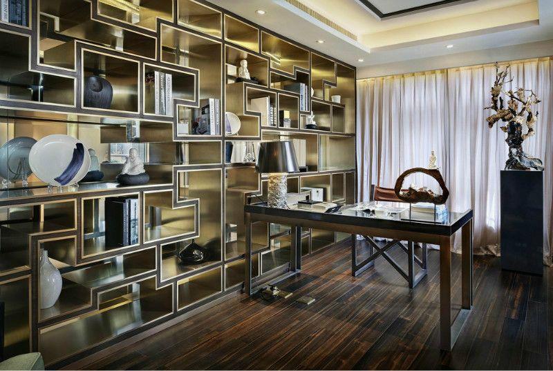 豪华中式书房装修效果图图片