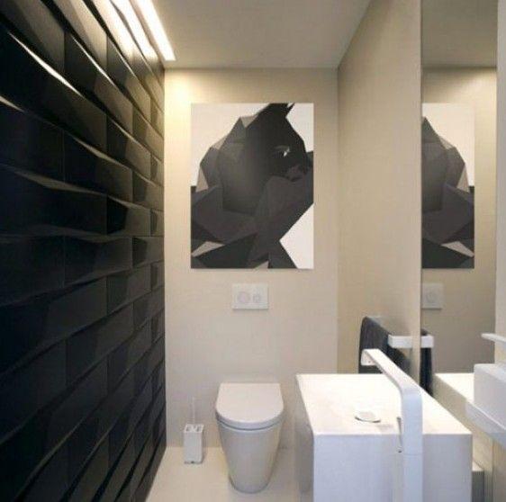 时尚的黑白卫生间