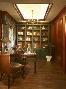 法式书房法式风格装修效果图图片